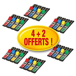 Post-it® Marque-pages petit format 11,9 x 43,1 m couleurs assorties 4 lots de 4 distributeurs de 35 marque pages et 2 lots gratuits