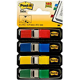 Post-it® Marque-pages souples 11,9 x 43,1 mm - 4 couleurs assorties (Rouge, Bleu, Jaune, Vert) - 4 x 35 index
