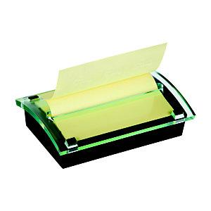 Post-it® Millennium Canary Yellow™ Dispensador de escritorio negro con notas adhesivas Z-Notes 76 x 127 mm, amarillo canario, 100 hojas