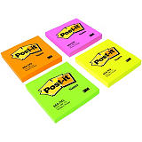 Post-it® Notas Adhesivas Bloques 76 x 76 mm, Naranja Neón