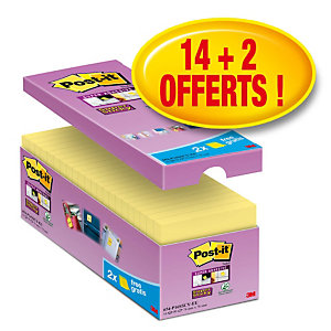 Post-it® notes Super Sticky Canary - 3M - 76 x 76 mm