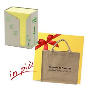 Post-it® Offerta 32 blocchi foglietti riposizionabili carta riciclata formato 76 x 127 mm giallo + 1 borsa shopper compresa nel prezzo