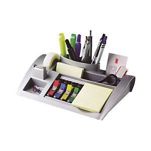 POST-IT Organisateur de bureau C50 avec ruban adhésif transparent Magic™ 19 mm x 33 m, petits marque-pages couleurs assorties et notes adhésives Jaune Canari™