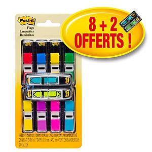 Post-it® Paquet de 8x35marque-pages petit format + un paquet offert de 2x24flèches adhésives petit format Couleurs Assorties avec distributeurs683-VAD1