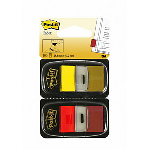 Post-it® Segnapagina Formato medio da 25,4 x 43,2 mm Rosso e Giallo con dispenser 680-RY2