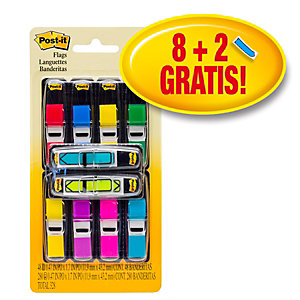 Post-it® Segnapagina Index Formato piccolo Confezione 8 x 35 + Segnapagina Index formato freccia gratuiti Piccoli Confezione 2 x 24 Colori assortiti Con dispenser 683-VAD1 (confezione da 24 post-it)