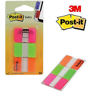 Post-it® Segnapagina Index Strong Small 25,4 x 38 mm Colori Assortiti Confezione 3 x 22 con dispenser