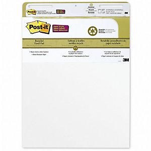 Post-it® Super Sticky 559RP Blocco per lavagna a fogli mobili, 63 x 73,2 cm, Bianco, 30 fogli