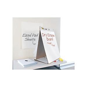 Post-it® Super Sticky 563 Blocco da tavolo a due lati con fogli mobili e superficie cancellabile a secco, 51 x 58 cm, Bianco, 20 fogli
