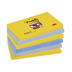 Post-it® Super Sticky Bloc de notas, 76 x 127 mm, Colección New York, 90 hojas