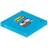 Post-it® Super Sticky Bloc de notas, 76 x 76mm, azul intenso, 90 hojas