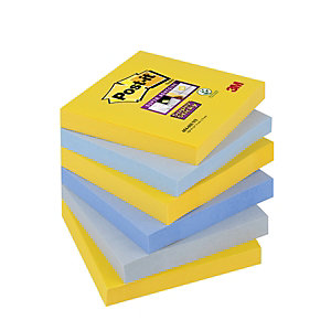 Post-it® Super Sticky Bloc de notas, 76 x 76 mm, Colección New York, 90 hojas
