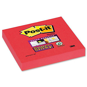 Post-it® Super Sticky, Foglietti per Dispenser, Blocchi 76 x 76 mm, Colori Assortiti Collezione Bora Bora, 90 foglietti, Confezione da 12 pezzi