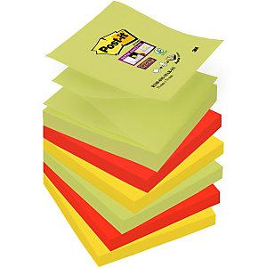 Post-it® Super Sticky, Foglietti per Dispenser, Blocco 76 x 76 mm, Colori Assortiti Collezione Marrakesh, 90 foglietti