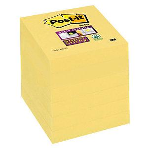 Post-it® Super Sticky Foglietti Riposizionabili, Blocchi 51 x 51 mm, Canary Yellow™, 90 foglietti (confezione 12 pezzi)