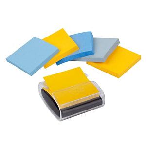 Post-it® Super Sticky, Foglietti Z-Notes per dispenser, Blocco 76 x 76 mm, Collezione colori New York, 90 foglietti (confezione 6 pezzi)