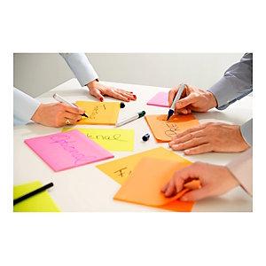 Post-it® Super Sticky Meeting, Foglietti riposizionabili, Blocchi 98,4 x 149 mm, Colori neon e brillanti assortiti, Confezione da 4 pezzi, 45 foglietti
