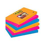 Post-it® Super Sticky Notas Adhesivas Bloques 76 x 127 mm, Colección Bangkok, 90 hojas