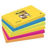 Post-it® Super Sticky Notas Adhesivas Bloques 76 x 127 mm, Colección Río de Janeiro, 90 hojas