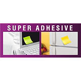 Post-it® Super Sticky Notas Adhesivas Rayadas, 102 x 152 mm, Colores Surtidos, 90 hojas