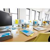Post-it® Super Sticky Ruled Bloc de notas 100 x 100 mm colores variados, pack de 6, 90 hojas