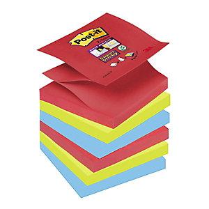 Post-it® Super Sticky Z-Notas Bloques 76 x 76 mm, Colección Bora Bora, 90 hojas