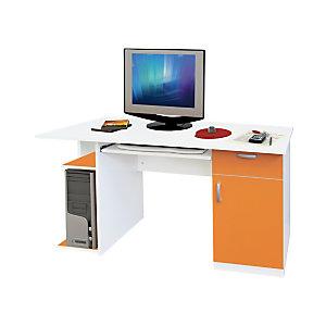 Postazione Start Up, 140 x 57 x 75 h, Bianco/Arancione