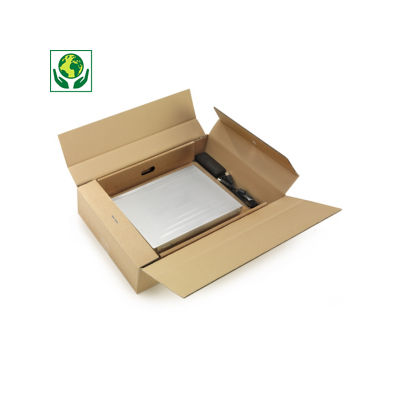 "Boîte avec calage film pour ordinateur portable 17"" à 19""##Postdoos met fixeerfolie voor laptop 17"" tot 19"""