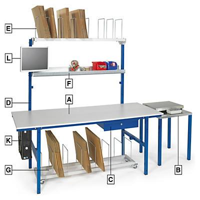 Poste d'emballage modulable - à assembler##Moduleerbare paktafel - samen te stellen