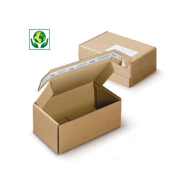 Postkarton mit Haftklebeverschluss für Paket