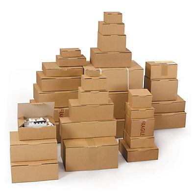 Boîte postale en carton brune RAJAPOST de 100 à 430 mm##Postkartons RAJAPOST, braun, Länge von 100 bis 430 mm