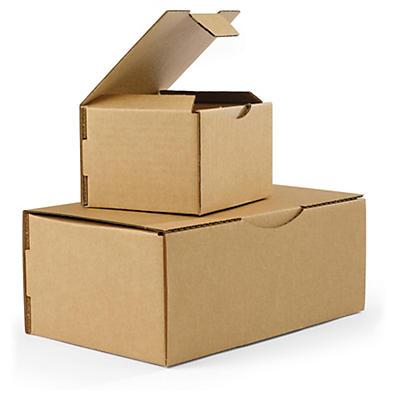 Boîte postale brune en carton RAJAPOST de 100 à 430 mm de long##Postkartons RAJAPOST, braun