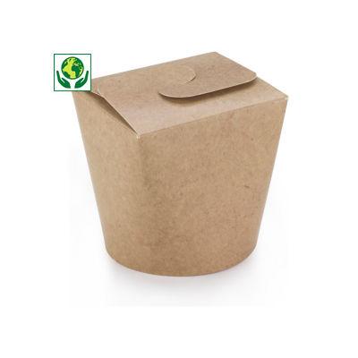 Pot carton brun à fermeture croisillon