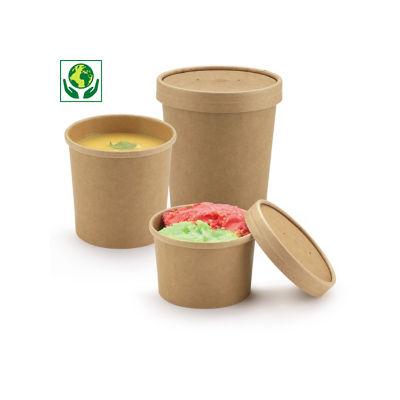 Pot carton brun