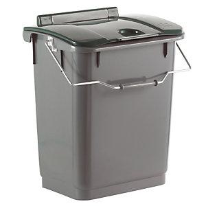 Poubelle Modulobac gris/vert 35 L