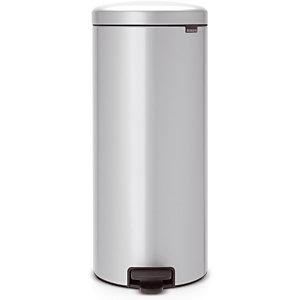 Poubelle NewIcon Brabantia 30 L gris métal