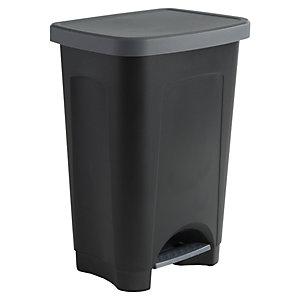 Poubelle à pédale Eco, 50 litres - Noir