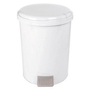 Poubelle plastique blanche à pédale 1er prix 20L