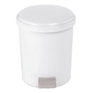 Poubelle plastique blanche à pédale 1er prix 3 L