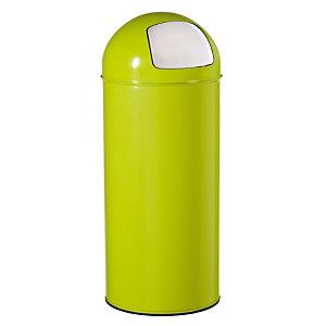 Poubelle Push  Rossignol 45 L vert anis,  couvercle à trappe