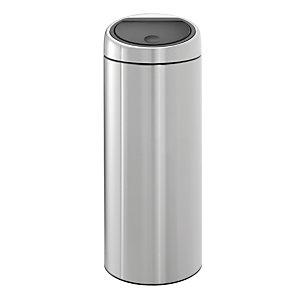 Poubelle Touch Bin Brabantia métal mat 30 L