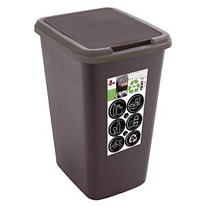 Poubelle de tri sélectif Green 50 L, coloris noir