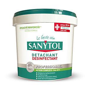 Poudre détachante désinfectante tous textiles Sanytol, seau de 1,5 kg
