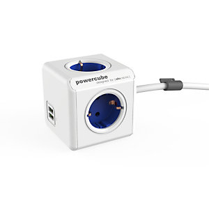 Powercube Allocacoc PowerCube Extended USB, 1,5 m, 4 salidas AC, Interior, Tipo F, Tipo F, 1 mm² 1402BL/DEEUPC