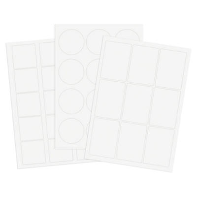 Präsentationsetiketten auf weißem Premium-Papier