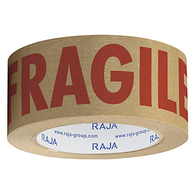 Pre-printed FRAGILE self-adhesive paper tape