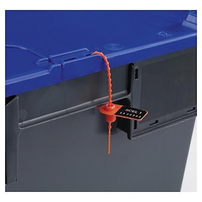 Precinto plástico de tira dentada