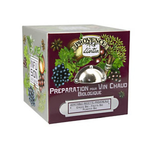 Preparato per Vin Brulé BIO Araquelle Mon Casier, 24 filtri in scatola di metallo