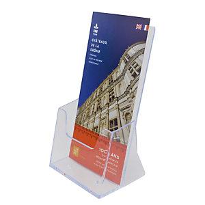 Présentoir de comptoir modulaire 1 case format 1/3 A4 coloris transparent