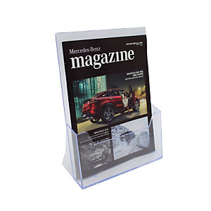 Présentoir de comptoir modulaire 1 case format A4 coloris transparent